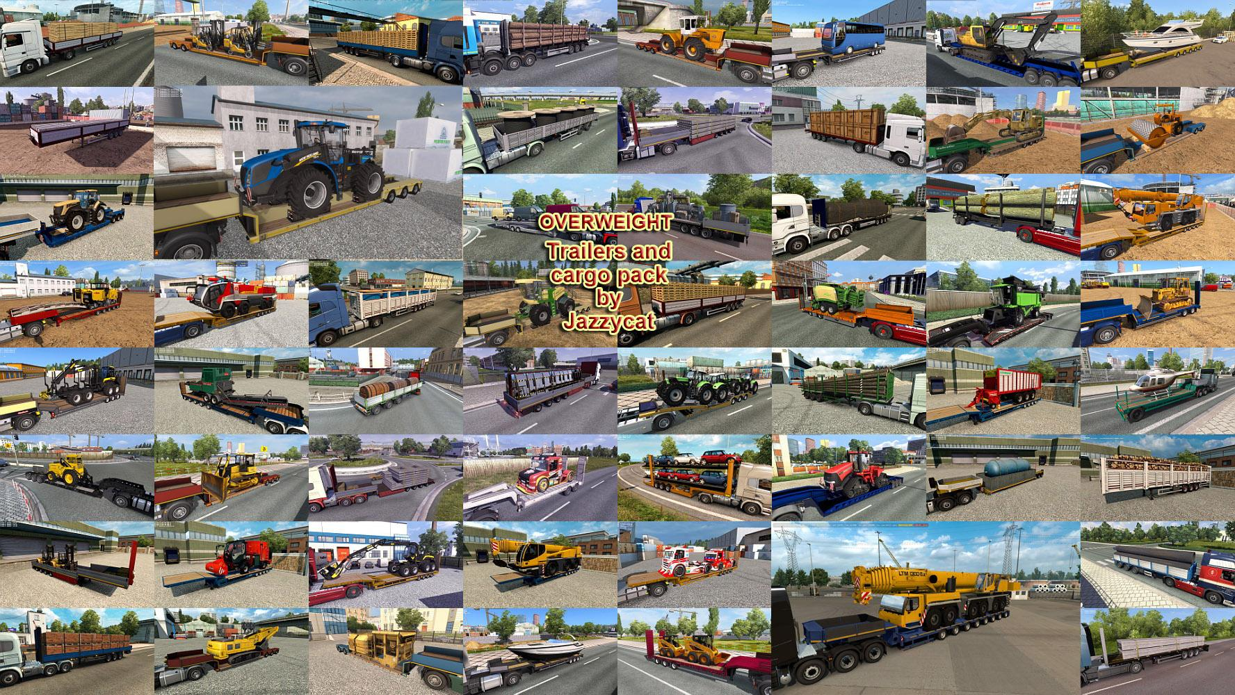 Overweight Trailers and Cargo Pack by Jazzycat v 7 9