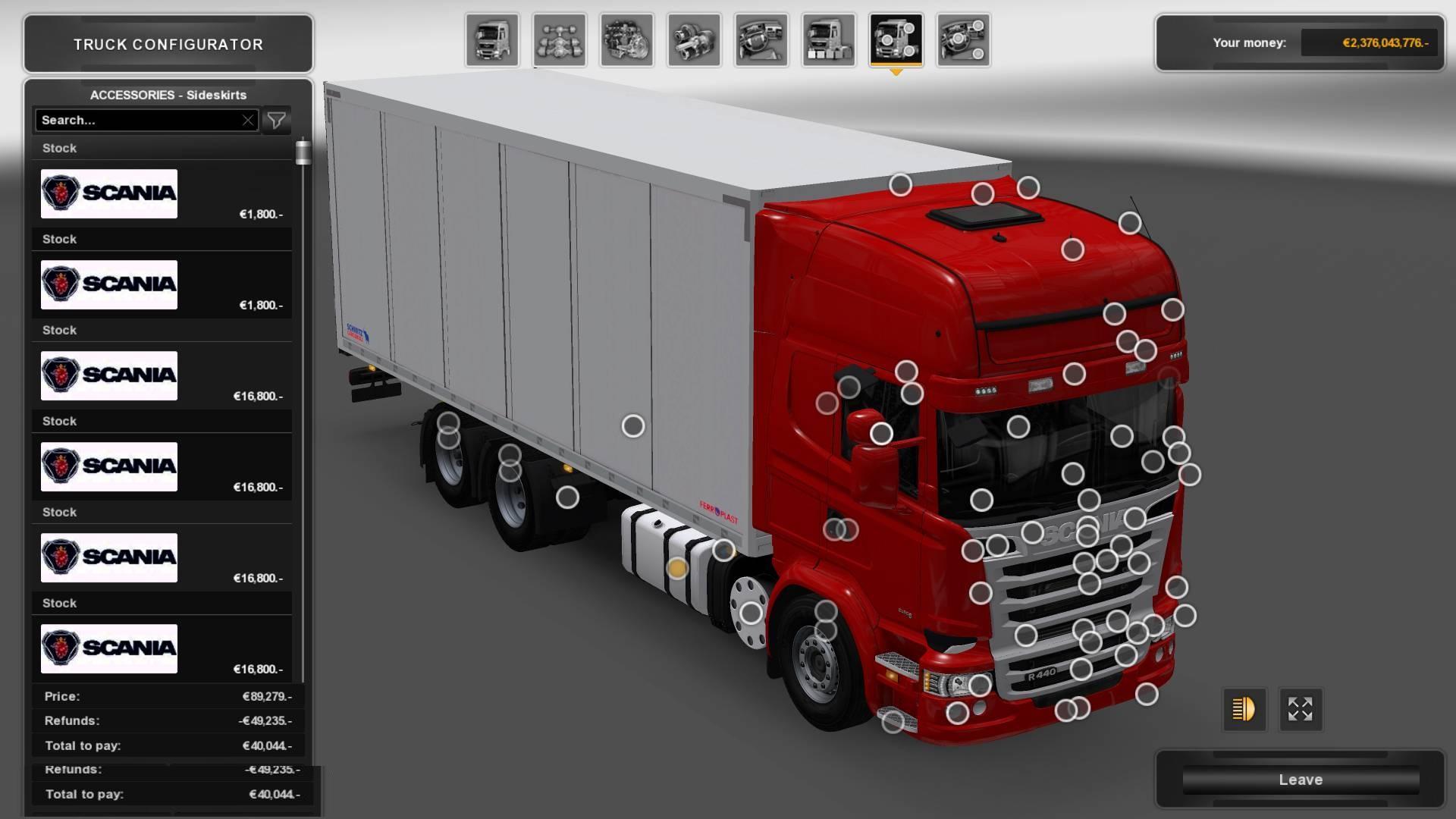 Scania Interior Accessories