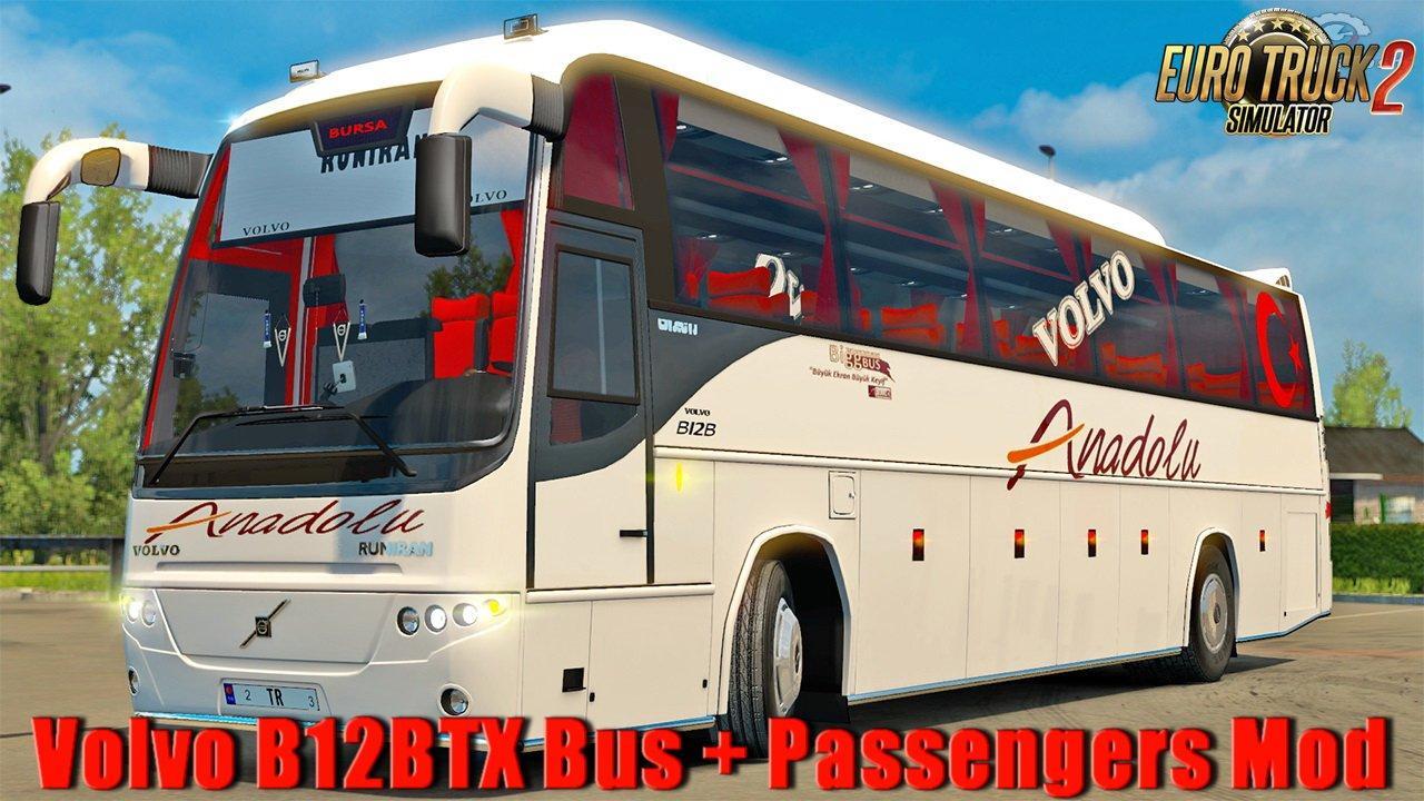 Volvo B12BTX Bus + Passengers Mod v 1 0 1 31 | Allmods net