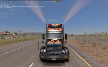 Freightliner Coronado Modified + Skins + Trailer 1.31