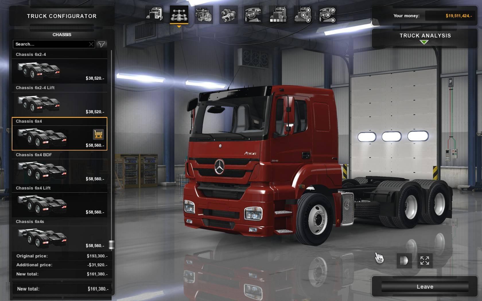 Mercedes Axor for ATS 1.31.x