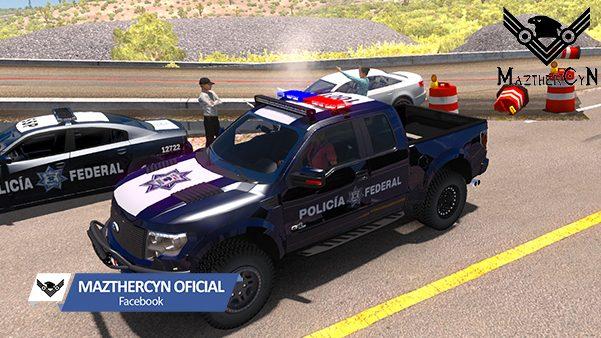 Skin Policia Federal Ford Raptor + Sonido Policia 1.31 MaztherCyN