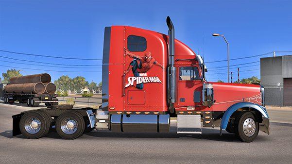 Spiderman Freightliner Classic XL Skin