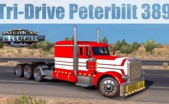 Tri-Drive Peterbilt 389 by Bu5ted 1.31.x