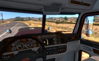 White dashboard backlight for Peterbilt 389 ATS 1.32.x