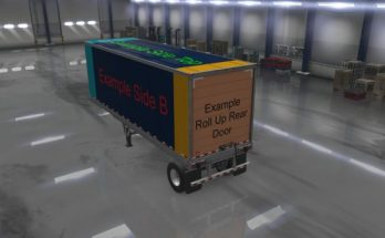 ATS Owned Trailers Templates with Example Skin Mod