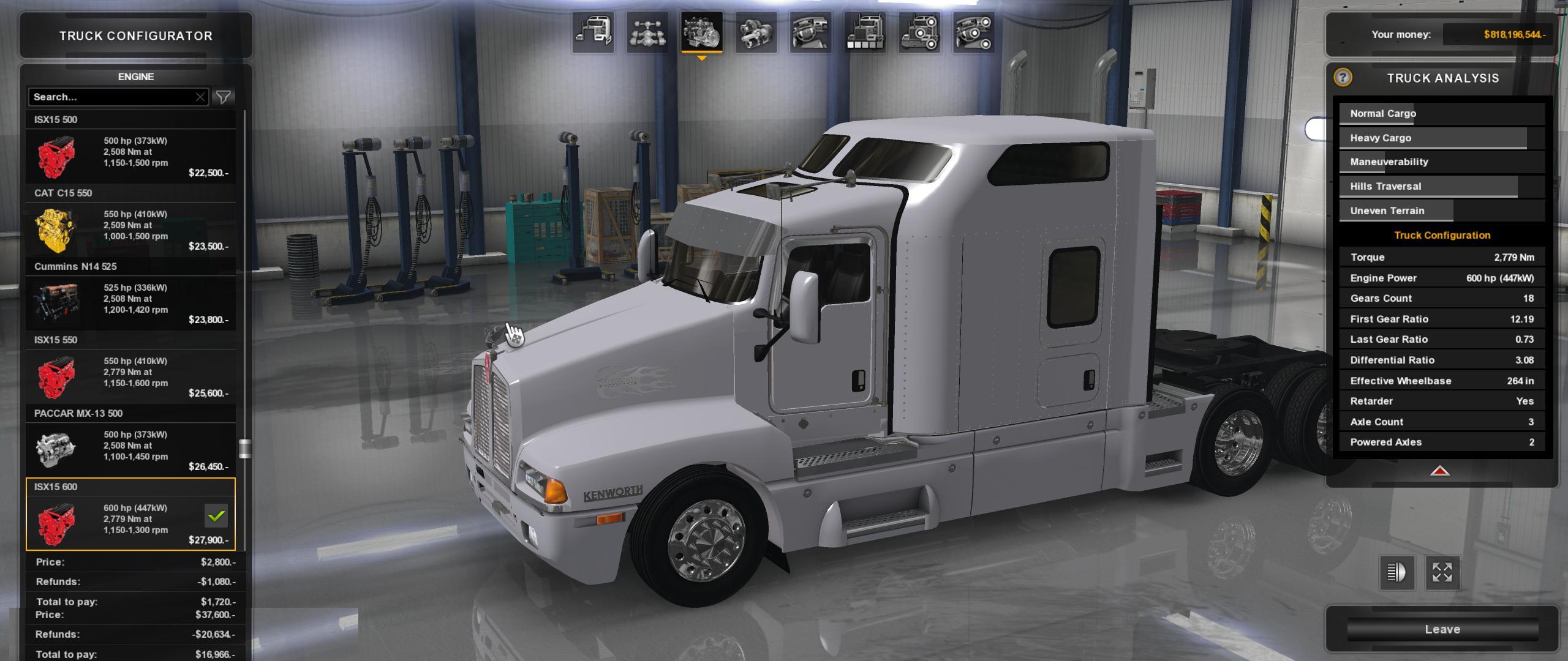 KENWORTH T600 v 1.0