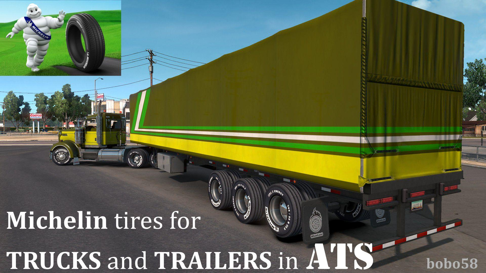 Michelin tires for Trucks and Trailers in ATS 1.32.x