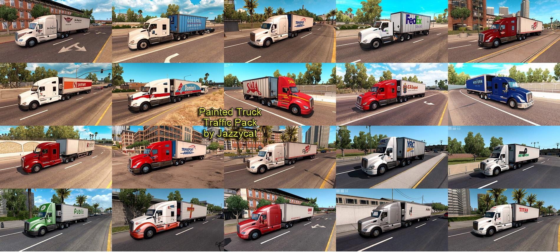 Painted Truck Traffic Pack by Jazzycat v 1.4.1