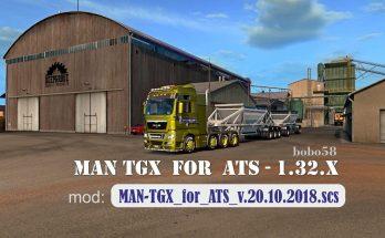 Truck MAN TGX in ATS 1.32.x