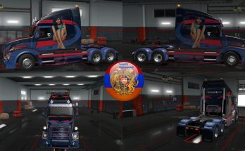 Freightliner Cascadia and Volvo VNL670 Kar style Skins v1.32.3.14
