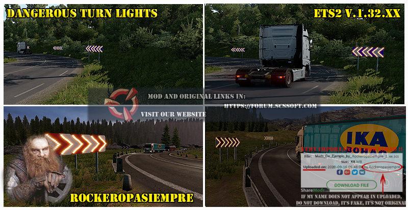 Dangerous Turn Lights ETS2 1 35 | Allmods net