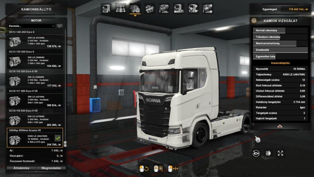 6500 HP for Scania S 2016 1.32.x