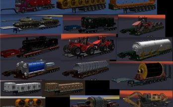 Chris45 Heavy Trailers Pack for ATS v 2.0