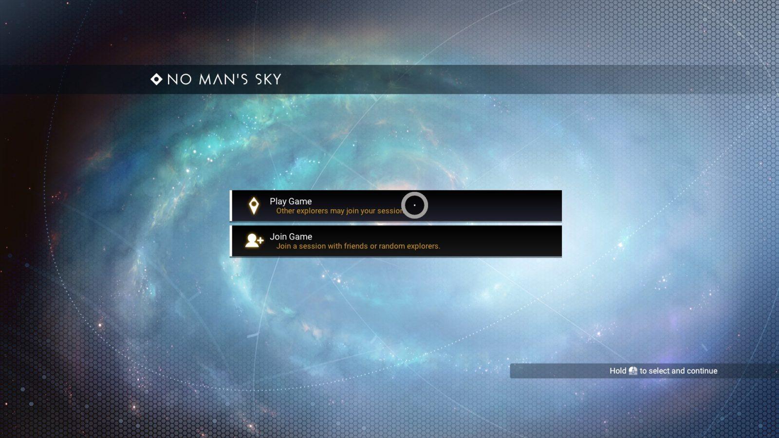 Galaxy Main Menu Background