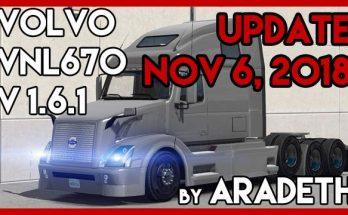 Volvo VNL 670 v1.6.1 by ARADETH for ATS