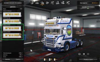 Addon Scania R580 D'Hoine Eng&GB v1.0