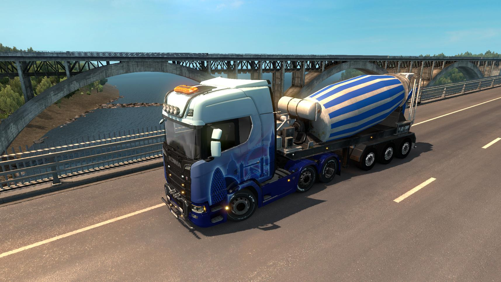 Concrete mixer Cement Mixer in traffic v1.0