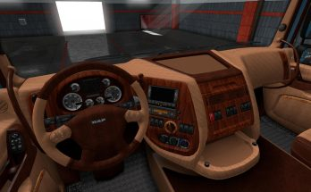 DAF XF 105 Leather Interior v1.0 1.32.x