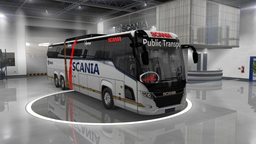 Scania Touring bus with passenger supported v3.0
