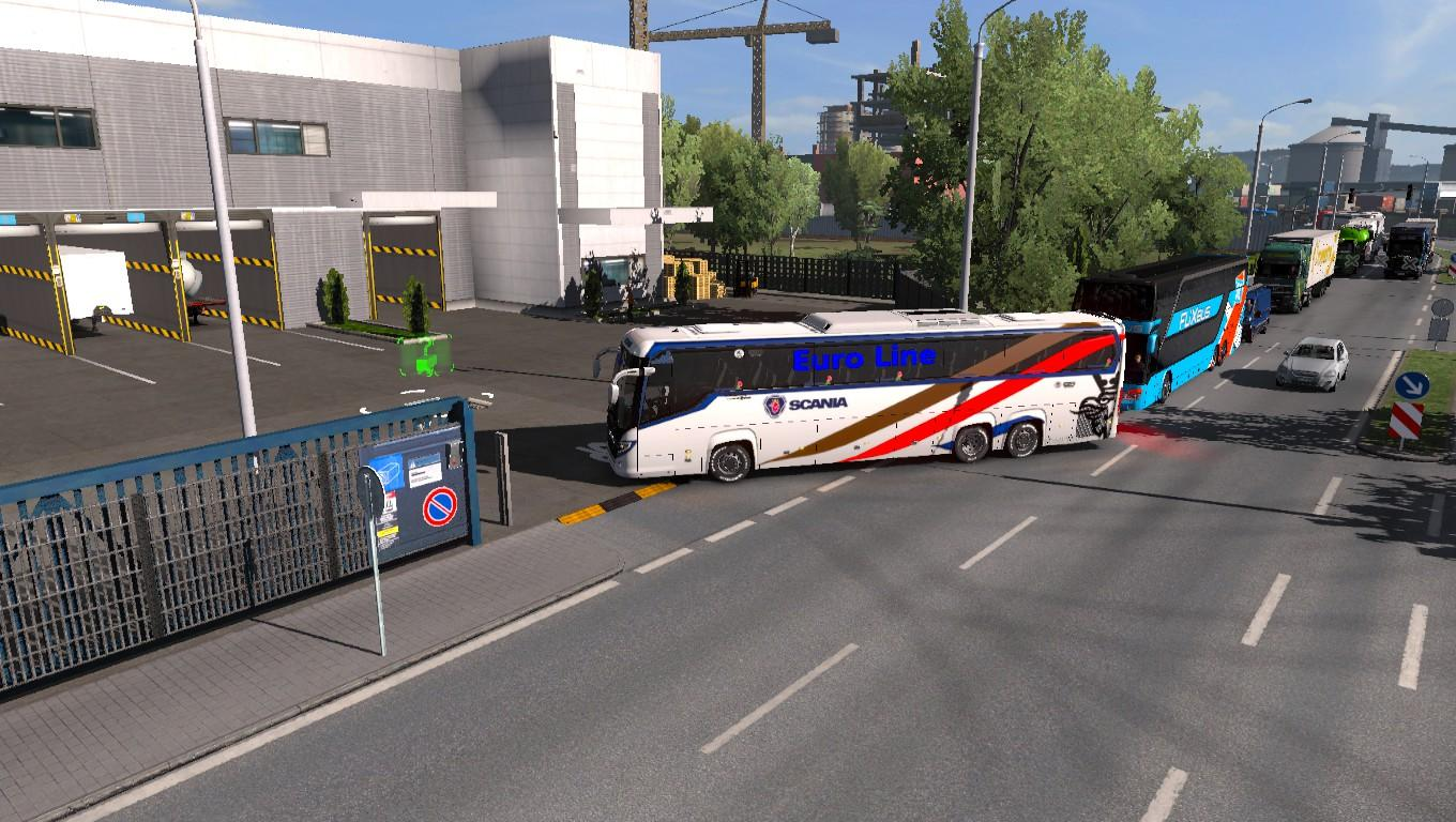 Scania touring euro line HD skin and with passenger chassis v3.0
