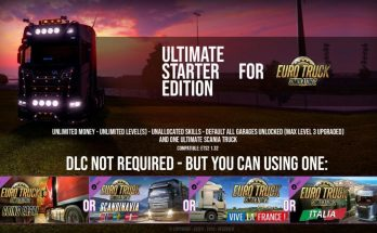 Ultimate Starter Edition – ETS2 SaveGame – By: Datex