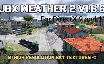 JBX Weather 2 for ATS – ETS2 v1.6.6.1 (27-5-2020)