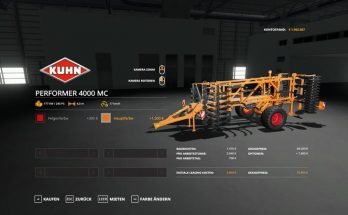 Kuhn Performer 4000 – MultiColor v 1.0