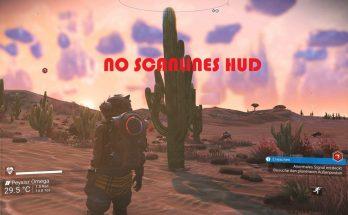 No scanlines HUD