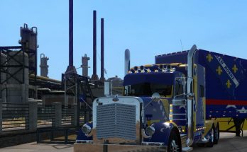Peterbilt 389 skin Bosnian Flag 1.33