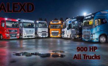 ALEXD 900 HP For All Trucks v1.0