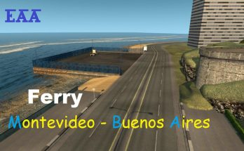 Ferry Montevideo - Buenos Aires on EAA map v1.0