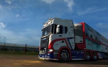 JNE LIVERY SKIN FOR SCANIA S 1.33.x