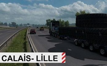 New Route for Special Transport Dlc Calais-Lille v1.0