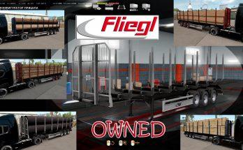 Ownable log trailer Fliegl 1.33.x ets2