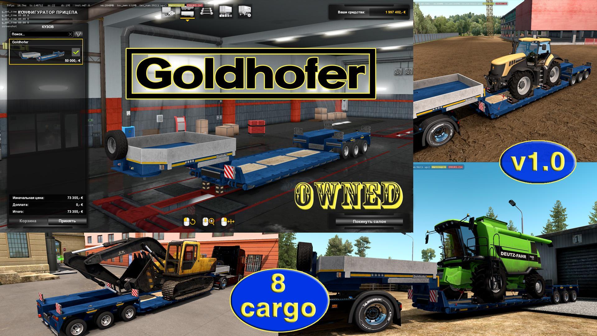 Ownable overweight trailer Goldhofer v1.0