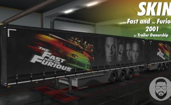 Skin The Fast and The Furious (2001) for Trailer Ownership v1.0 ets2