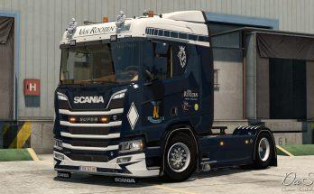 Van Rooijen skin for Scania Next Gen 1.33