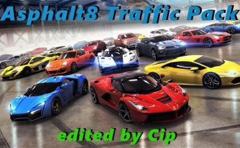 Asphalt8 Traffic Pack ATS 1.33 edit by Cip + Sounds