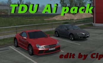 TDU Traffic Pack ATS 1.33 edit by Cip + Sounds v 1.1