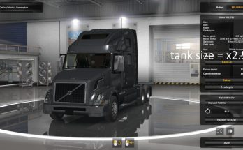 Tank size + engine torque x2.5 for all Trucks v 1.0