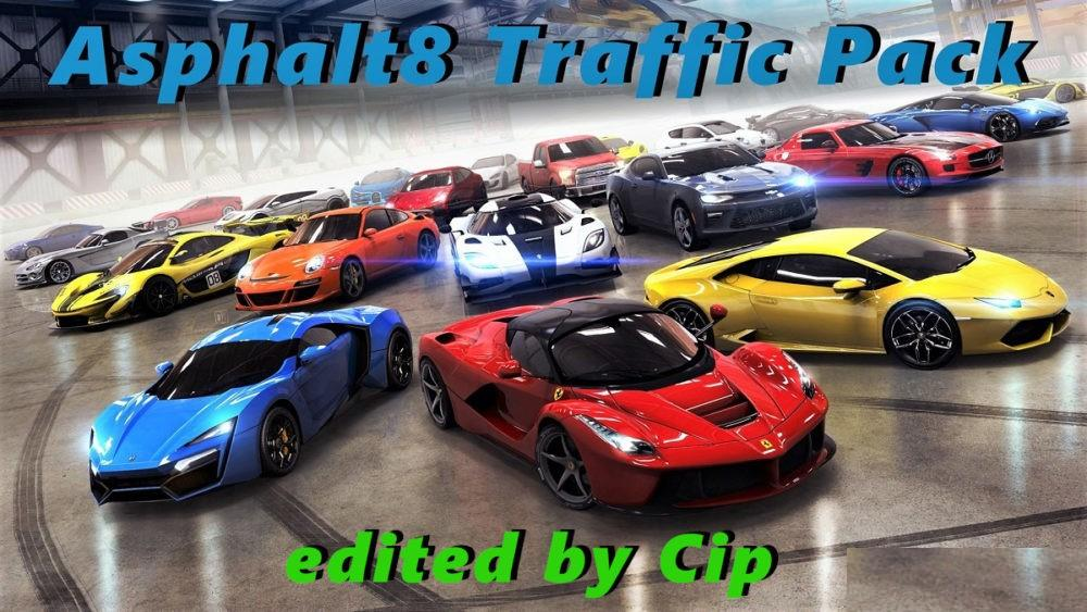 Asphalt 8 Traffic Pack ETS2 1.33 edit by Cip + Sounds
