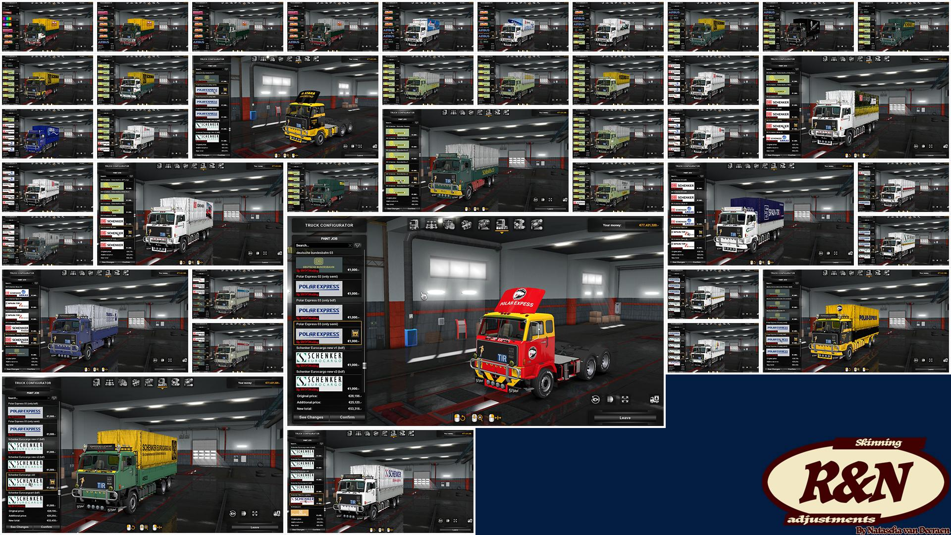 Skins Pack for VOLVO F88 by XBS