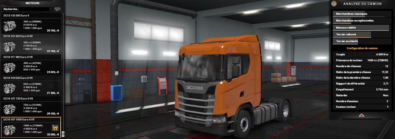 1000 HP for various Scania Trucks v1.1 1.33.x