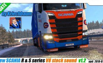 New Scania R & S Series V8 Stock Sound v1.2 1.33.x