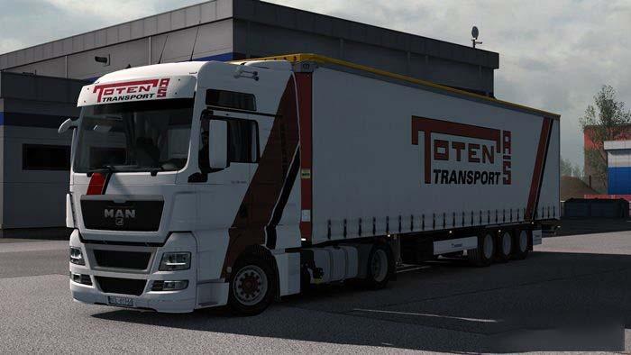 Combo Toten Transport MAN TGX E5 & Krone Megaliner 1.33.x