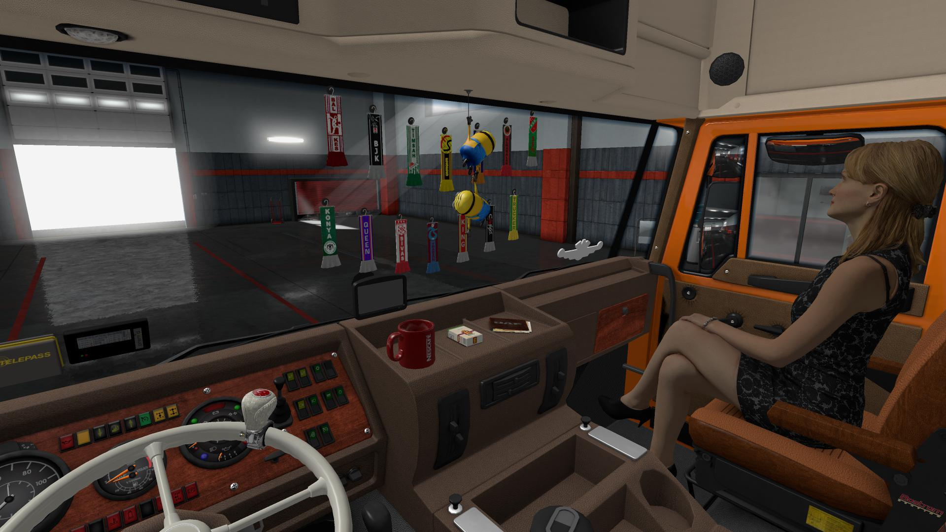DAF F241 ADDON STEERING WHEEL and Interior Accessory v1.5