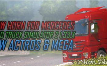 Horn – Mercedes Actros & Mega - ETS2 1.33.x