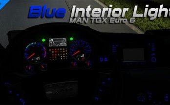 MAN TGX Euro 6 Blue Interior Light 1.34