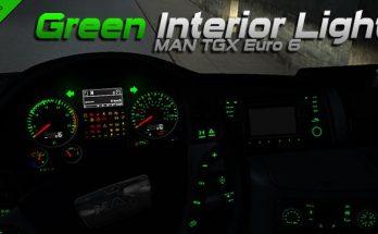 MAN TGX Euro 6 Green Interior Light 1.34